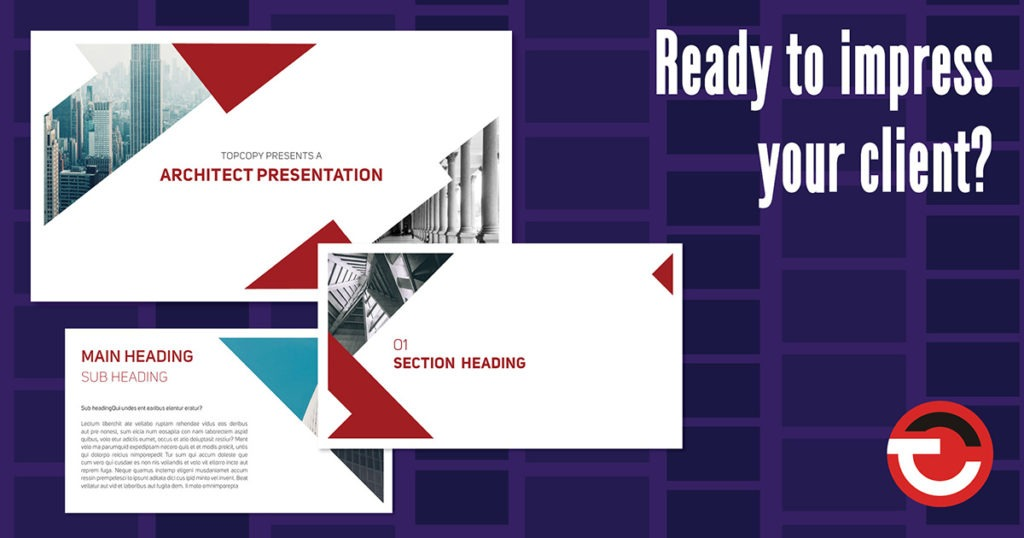 Presentation template blog header
