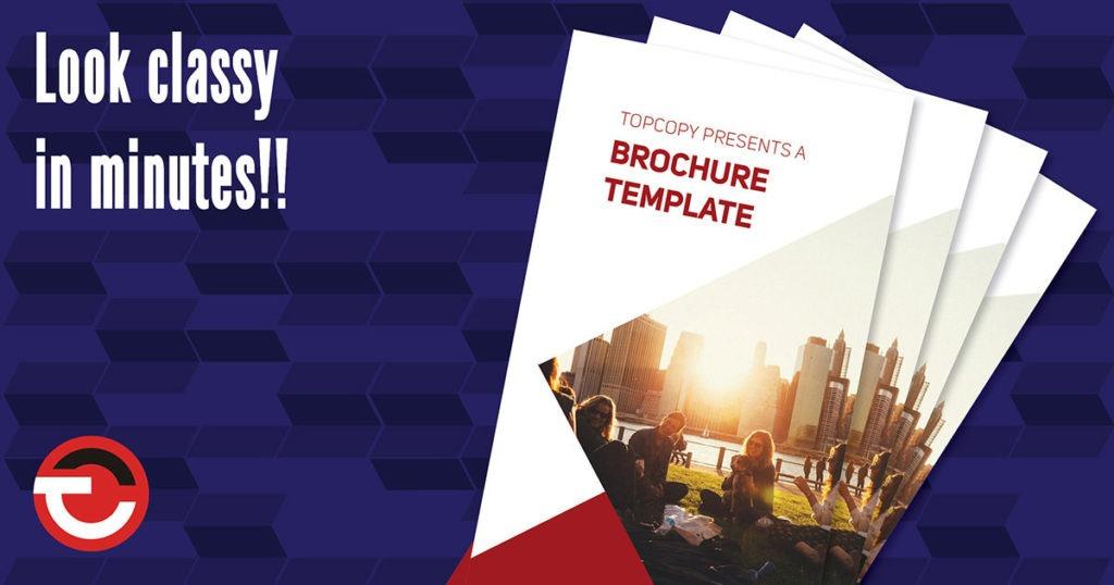 Free in-design brochure blog header
