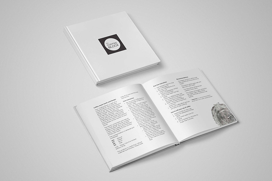 A hard cover coffee table book