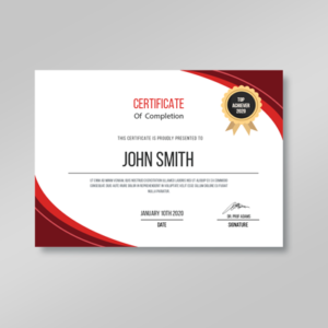 product image certificate