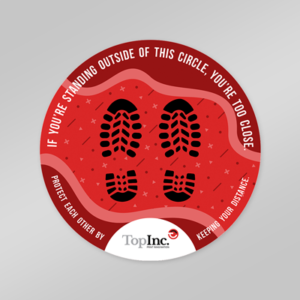 product image covid floor decal